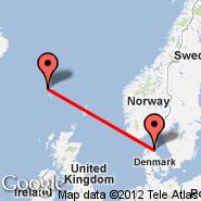Aalborg (AAL) - Faroer/Isole (Vagar, FAE)