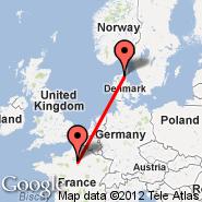 Aalborg (AAL) - Pariz (Metropolitan Area, PAR)