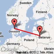 Aalborg (AAL) - Vilna (Vilnius International Airport, VNO)