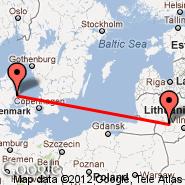 Aarhus (Aarhus Airport, AAR) - Kaunas (Kaunas International Airport, KUN)