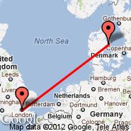 Aarhus (Aarhus Airport, AAR) - London (Metropolitan Area, LON)