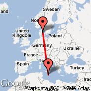 Aarhus (Aarhus Airport, AAR) - Malta (Malta International, MLA)