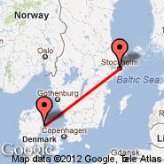 Aarhus (Aarhus Airport, AAR) - Stockholm (Metropolitan Area, STO)