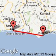 Abidjan (Felix Houphouet Boigny, ABJ) - Takoradi (TKD)