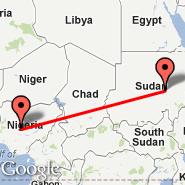 Abuja (Nnamdi Azikiwe International Airport, ABV) - Khartoum (Civil, KRT)