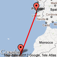 Lanzarote (Arrecife, ACE) - Lisabon (Portela, LIS)
