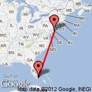 Atlantic City (Atlantic City Intl, ACY) - Miami (Miami International Airport, MIA)