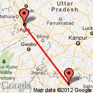 Agra (Kheria, AGR) - Khajuraho (HJR)
