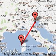 Alghero (Fertilia, AHO) - Venecija (Marco Polo, VCE)