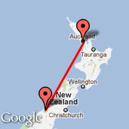 Auckland (Auckland International, AKL) - Fox Glacier (Heliport, FGL)