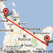 Auckland (Auckland International, AKL) - Gisborne (GIS)
