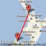 Auckland (Auckland International, AKL) - Takaka (KTF)
