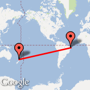 Auckland (Auckland International, AKL) - Natale (Augusto Severo, NAT)