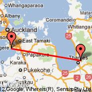 Auckland (Auckland International, AKL) - Thames (TMZ)