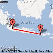 Lombok/Mataram (Selaparang, AMI) - Bandung (Husein Sastranegara, BDO)