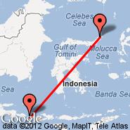 Lombok/Mataram (Selaparang, AMI) - Manado (Samratulangi, MDC)