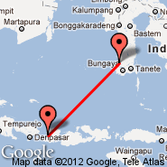 Lombok/Mataram (Selaparang, AMI) - Makassar (Hasanudin, UPG)