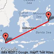 Ambon (Pattimura, AMQ) - Denpasar/Bali (Ngurah Rai International, DPS)