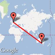 Amsterdam (Amsterdam-Schiphol, AMS) - Adelaide (Adelaide International Airport, ADL)