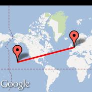 Amsterdam (Amsterdam-Schiphol, AMS) - Hilo/Hawaii (Hilo International, ITO)