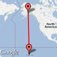 Anchorage (Ted Stevens Anchorage International Airport, ANC) - Tikehau Atoll (TIH)