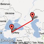 Ankara (Etimesgut, ANK) - Astrakhan (ASF)
