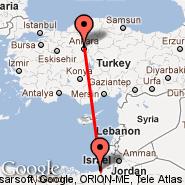 Ankara (Etimesgut, ANK) - Gaza (Gaza - Yaser Arafat International Airport, GZA)
