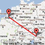 Antwerp (Deurne, ANR) - Klagenfurt (Alpe Adria, KLU)