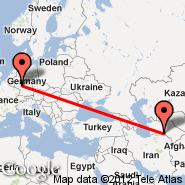 Ashgabat (ASB) - Frankfurt (Frankfurt International Airport, FRA)