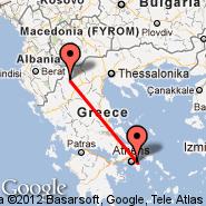 Atena (Eleftherios Venizelos, ATH) - Kastoria (Aristoteles Airport, KSO)