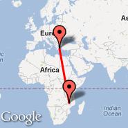 Atena (Eleftherios Venizelos, ATH) - Lilongwe (Kumuzu International Airport, LLW)