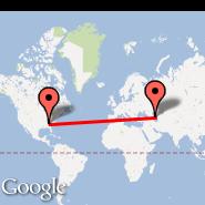 Atlanta (Hartsfield-jackson Atlanta International, ATL) - Baku (Heydar Aliyev International, GYD)
