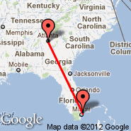 Atlanta (Hartsfield-jackson Atlanta International, ATL) - Hollywood (North Perry, HWO)