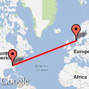 Atlanta (Hartsfield-jackson Atlanta International, ATL) - Kristiansand (Kjevik, KRS)