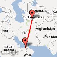 Abu Dhabi (Abu Dhabi International, AUH) - Ashgabat (ASB)