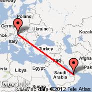 Abu Dhabi (Abu Dhabi International, AUH) - Graz (Thalerhof, GRZ)