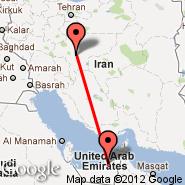 Abu Dhabi (Abu Dhabi International, AUH) - Isfahan (Isfahan International, IFN)