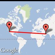 Abu Dhabi (Abu Dhabi International, AUH) - Los Angeles (Los Angeles International, LAX)