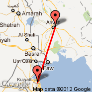 Ahwaz (AWZ) - Kuwait City (Kuwait International, KWI)