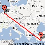 Antalya (AYT) - Bruselj (Brussels Airport, BRU)