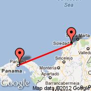 Barranquilla (E Cortissoz, BAQ) - Panama City (Tocumen International, PTY)