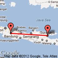Bandung (Husein Sastranegara, BDO) - Surabaya (Juanda, SUB)