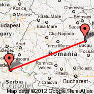 Beograd (Nikola Tesla, BEG) - Bacau (BCM)