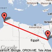 Benghazi (Benina Intl, BEN) - Hurghada (HRG)