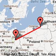 Berlin (Berlin Metropolitan Area, BER) - Kaliningrad (Kaliningrad Devau, KGD)