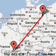 Berlin (Berlin Metropolitan Area, BER) - Lyon (Bron, LYN)