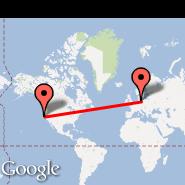 Berlin (Berlin Metropolitan Area, BER) - San Francisco (San Francisco International, SFO)