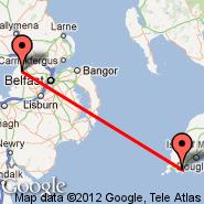 Belfast (Aldergrove International Airport, BFS) - Isle of Man (Ronaldsway, IOM)