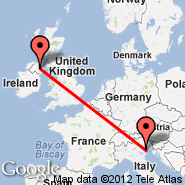 Belfast (Aldergrove International Airport, BFS) - Benetke (Marco Polo, VCE)