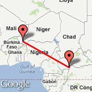 Bangui (BGF) - Niamey (Diori Hamani International Airport, NIM)